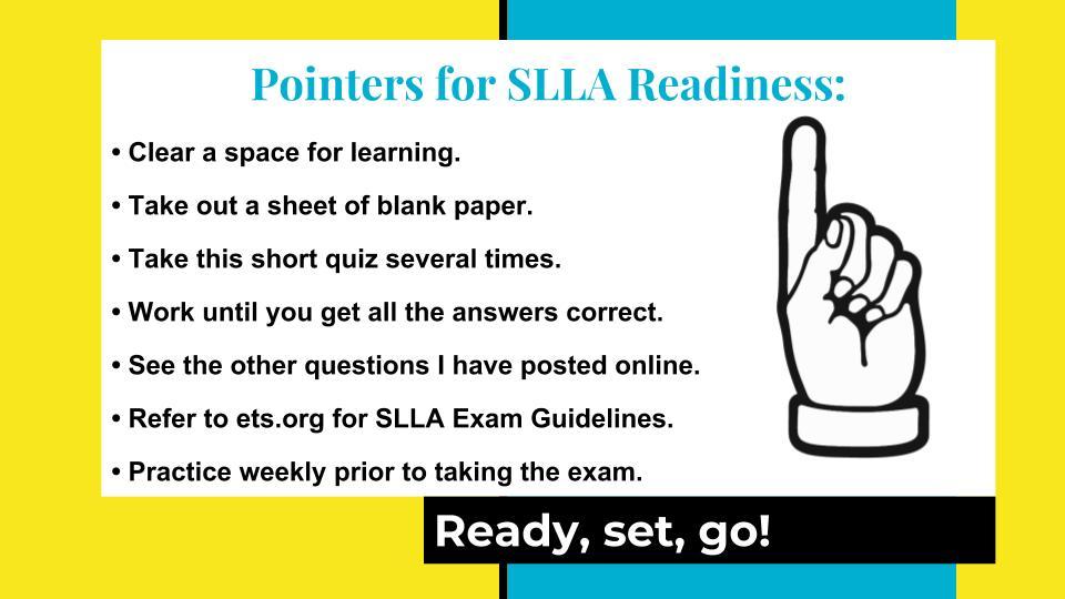 SLLA Pointers